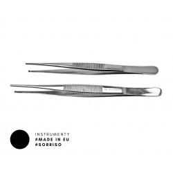 Pęseta chirurgiczna z ząbkiem prosta i wygięta
