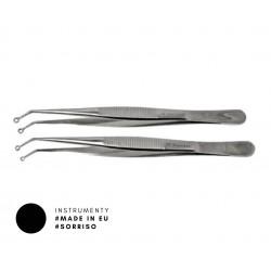 Pęseta mikrochirurgiczna z oczkiem, 15 cm